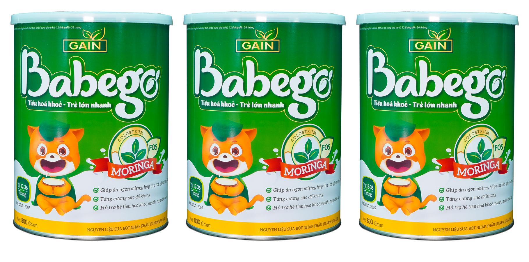 Sữa bột Babego cho bé tăng cân