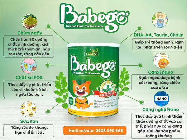Sữa Babego tăng cân cho trẻ