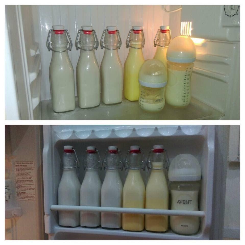 Không nên cất sữa tăng cân cho trẻ 1 tuổi vào tủ lạnh để tái sử dụng lần sau
