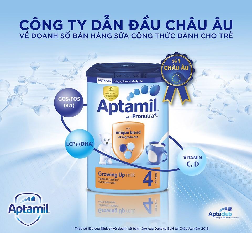 Sữa Aptamil chất lượng hàng đầu Châu Âu