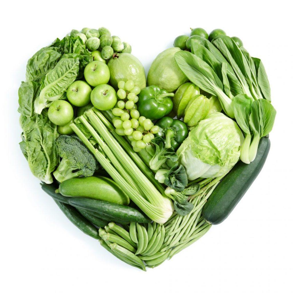 Một số rau màu xanh đậm