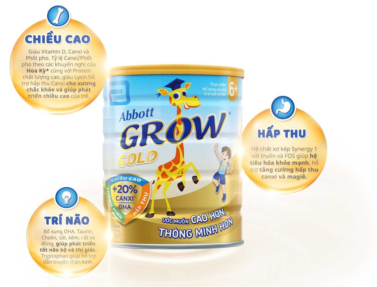 Sữa bột Abbott Grow