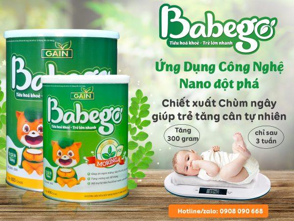 Sữa bột tăng cân Babego