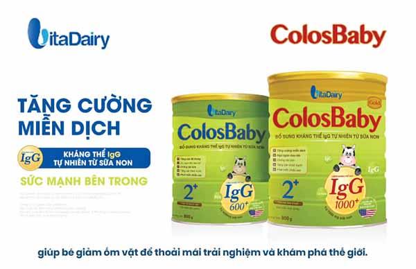 Sữa Colosbaby- top sữa tăng sức đề kháng cho bé