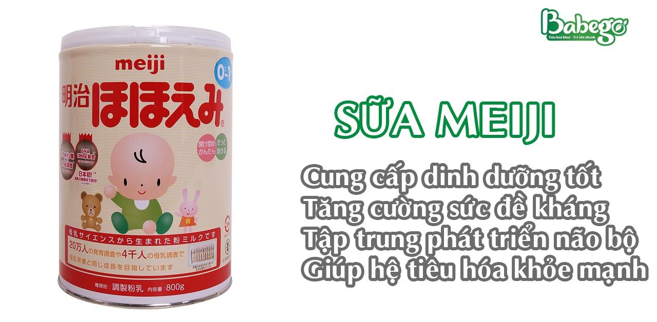 Sữa Meiji tốt cho tiêu hóa của trẻ