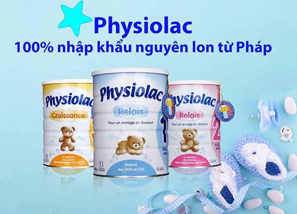 Sữa Physiolac chứa nhiều chất xơ giúp tăng cường hệ tiêu hóa cho bé