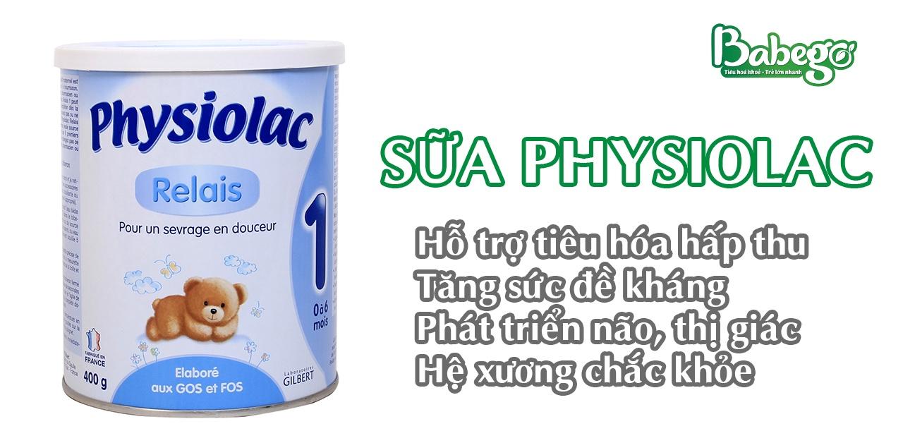 Sữa Physiolac tốt cho hệ tiêu hóa của trẻ