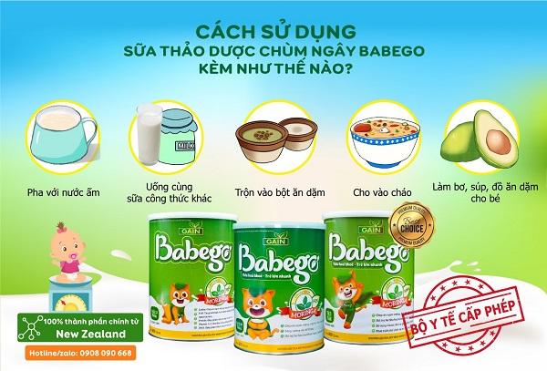 Các cách sử dụng sữa thảo dược Babego hiệu quả nhất