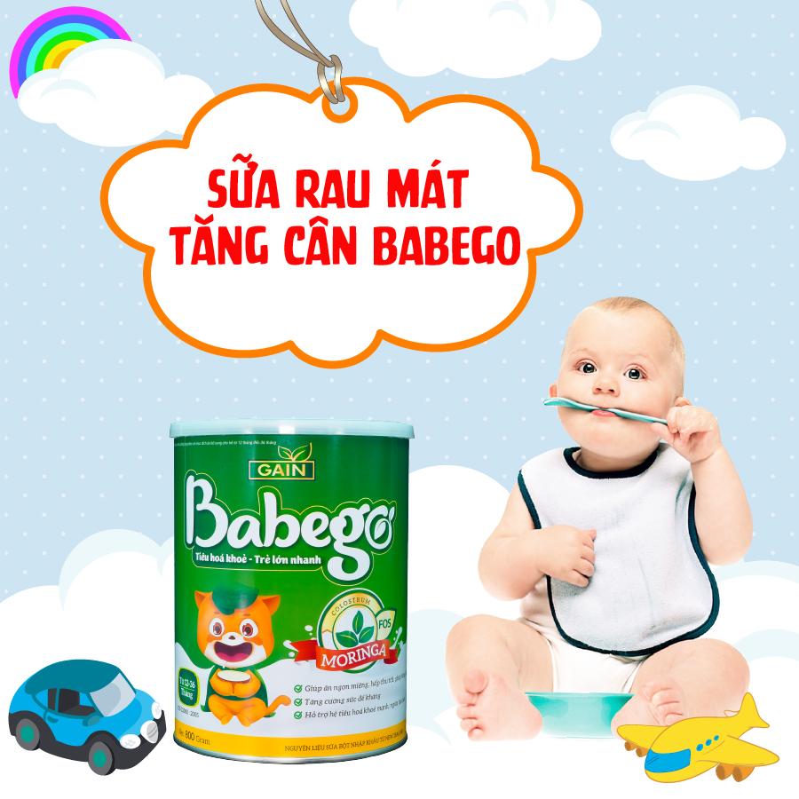 Sữa rau mát tăng cân Babego