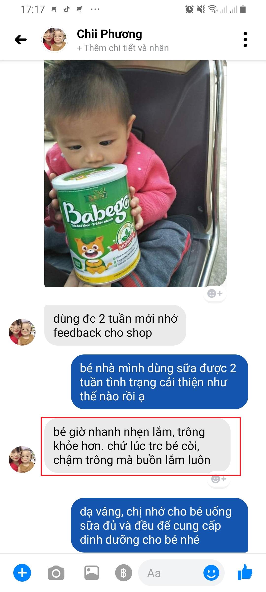 Reivew sữa Babego tăng đề kháng tốt không?