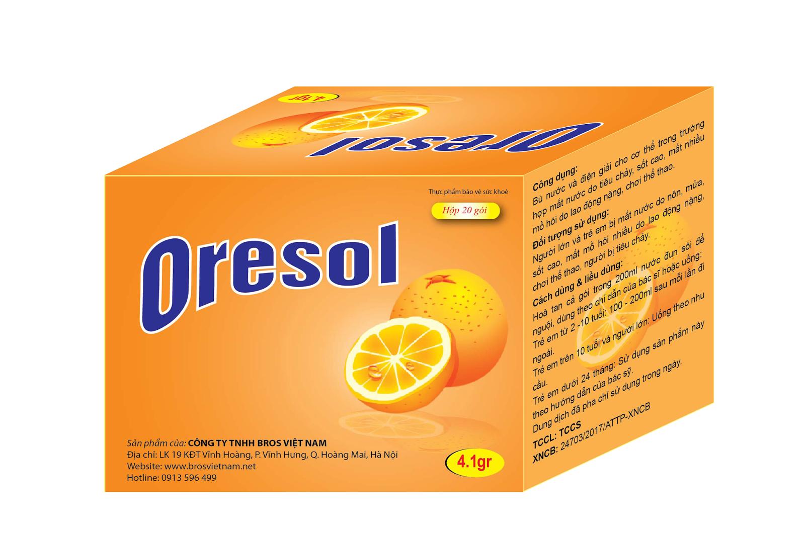 Bù nước bù điện giải Oresol