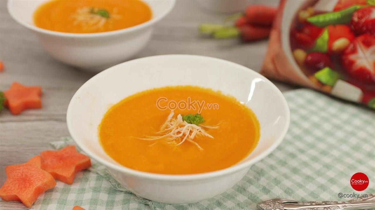 Súp cà rốt tốt cho trẻ bị tiêu chảy