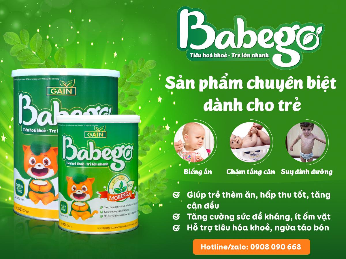 Sữa Babego cải thiện tình trạng biếng ăn ở trẻ sơ sinh