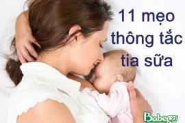 Mẹo thông tắc tia sữa cho mẹ sau sinh