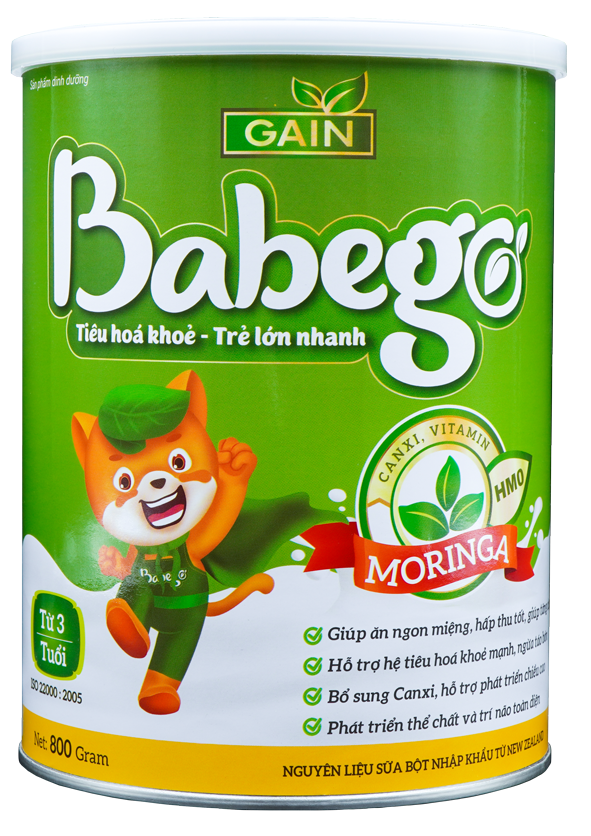 Sữa thảo dược chùm ngây Babego trên 3T 800g
