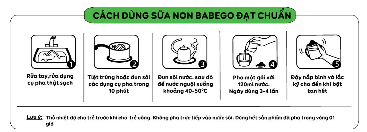 Cách sử dụng sữa non Babego